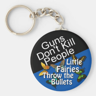 Guns Don't Kill People Button Keychain
