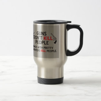 guns dont kill people dads with pretty daughters k 15 oz stainless steel travel mug