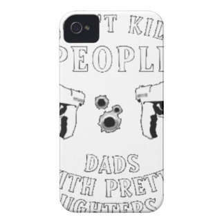 Guns Don't Kill People... iPhone 4 Cover