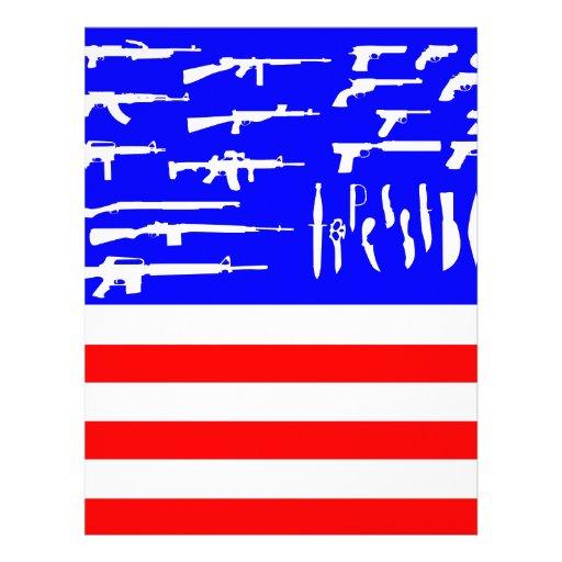 Guns Flag Personalized Letterhead