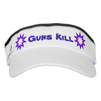 Guns Kill Purple Star Headsweats Visor