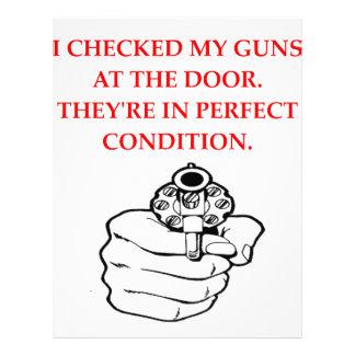 guns letterhead template