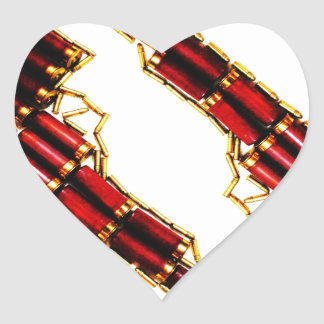 Guns n' bullets heart sticker