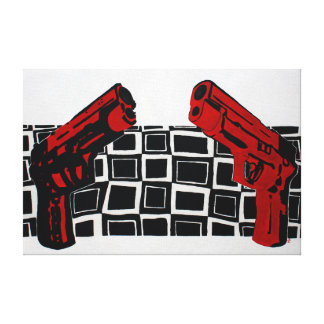 Guns Painting Canvas Print