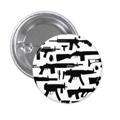 Guns pattern pinback button