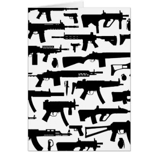 Guns pattern carte de vœux