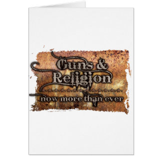 guns&religion greeting card