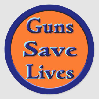 Guns Save Lives Classic Round Sticker