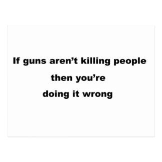 Guns Slogan. Postcard