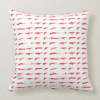 Guns Throw Pillow