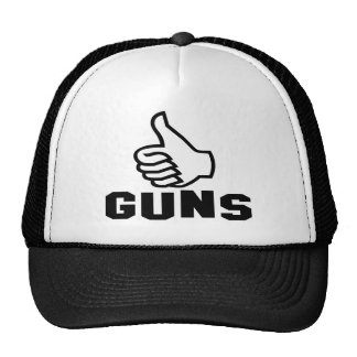 Guns with Thumbs Up Trucker Hat