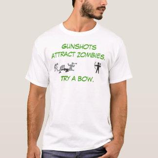 Gunshots Attract Zombies T-Shirt
