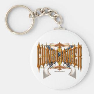 Gunslinger Basic Round Button Keychain