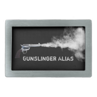 Gunslinger Buckle with Your Alias Belt Buckle