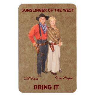 Gunslinger Couple Magnet