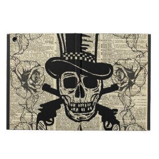 Gunslinger,Happy Skull,Guns,Roses,Gift,Teens,Rock iPad Air Cover