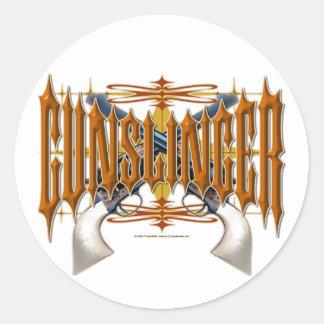 Gunslinger Classic Round Sticker