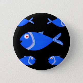 Guppy Fish 2 Inch Round Button