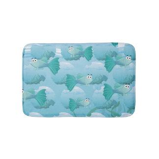 Guppy fish illustration bath mat