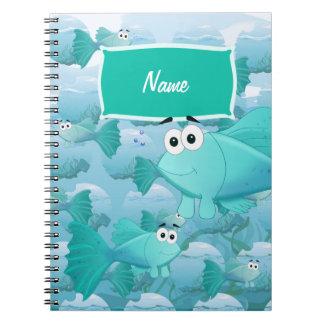 Guppy fish notebook