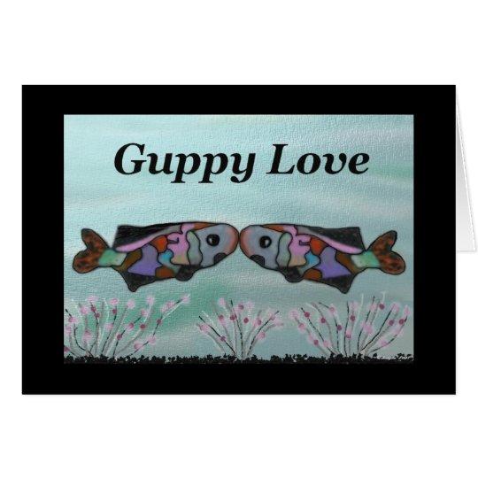 Guppy Love Ocean Valentine Card