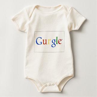 GURGLE Vintage Old School Font Baby Bodysuit