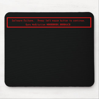 Guru Meditation Mouse Mat