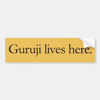 Guruji lives here large sticker. bumper sticker