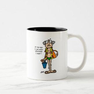 Gus-Age Thing Tshirts and Gifts Two-Tone Coffee Mug
