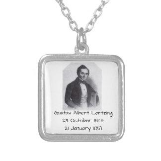 Gustav Albert Lortzing Silver Plated Necklace
