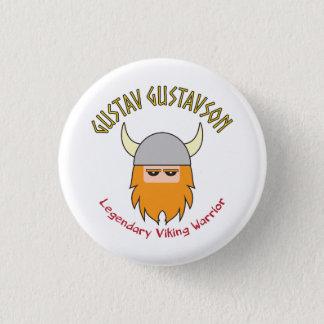Gustav Gustavson Viking Badge 1 Inch Round Button