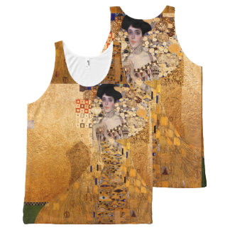 Gustav Klimt, 1907 Portrait of Adel Bloch Bauer All-Over-Print Tank Top