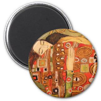Gustav Klimt 2 Inch Round Magnet