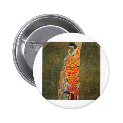 Gustav Klimt Abandoned Hope Button