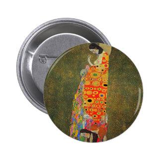 Gustav Klimt Abandoned Hope Pinback Button