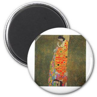 Gustav Klimt Abandoned Hope Magnets