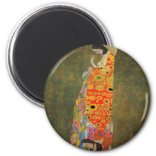 Gustav Klimt Abandoned Hope Fridge Magnet