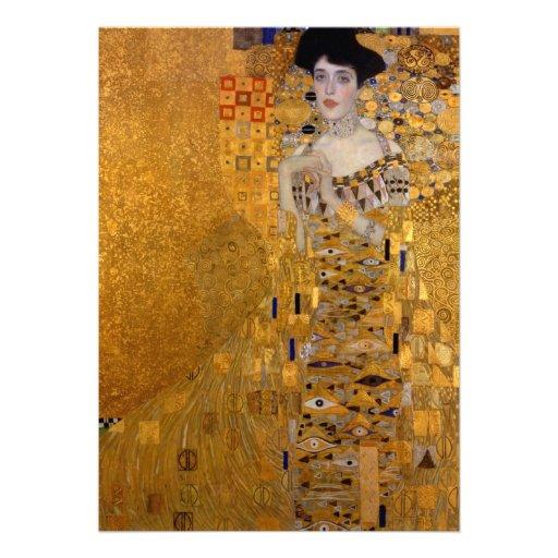 Gustav Klimt - Adele Bloch-Bauer I. Custom Announcement