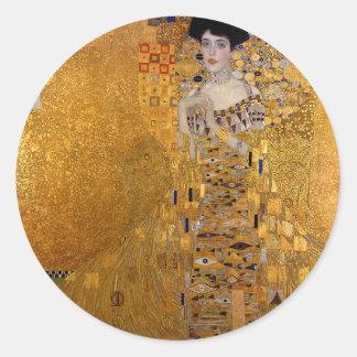 Gustav Klimt - Adele Bloch-Bauer I Painting Classic Round Sticker