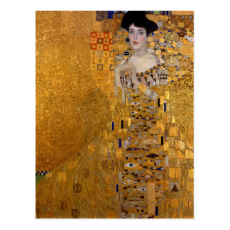 Gustav Klimt - Adele Bloch-Bauer I Painting Postcard