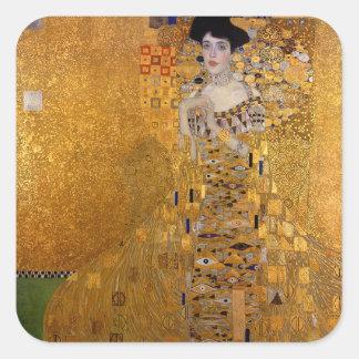 Gustav Klimt - Adele Bloch-Bauer I Painting Square Sticker