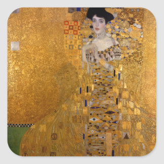 Gustav Klimt - Adele Bloch-Bauer I. Square Sticker