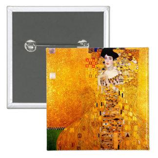 Gustav Klimt Adele Bloch-Bauer Vintage Art Nouveau 2 Inch Square Button