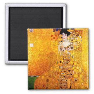 Gustav Klimt Adele Bloch-Bauer Vintage Art Nouveau Square Magnet