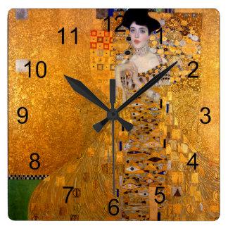Gustav Klimt Adele Portrait Vintage Wall Clocks