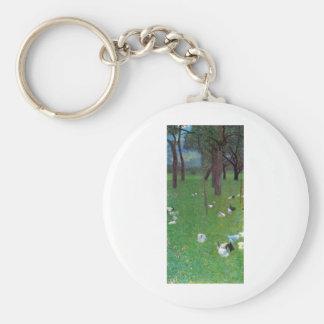 Gustav Klimt After The Rain Basic Round Button Keychain
