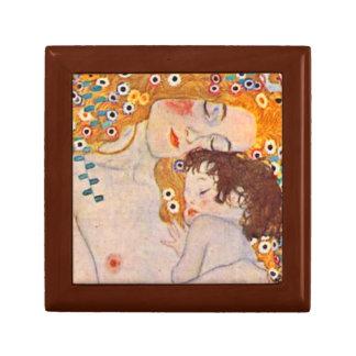 Gustav Klimt Ages of Woman Vintage Tiled Box