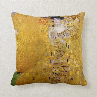 Gustav Klimt and Adele Bloch-Bauer's Portrait Throw Pillow
