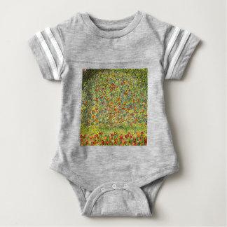 Gustav Klimt Apple Tree Baby Bodysuit