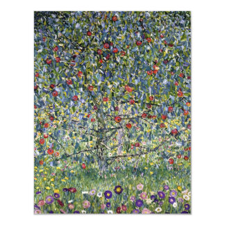 "Gustav Klimt Apple Tree Note Card 4.25"" X 5.5"" Invitation Card"